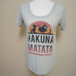 Disney The Lion King Hakuna Matata T-Shirt Gray
